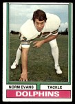 1974 Topps #278  Norm Evans  Front Thumbnail