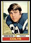 1974 Topps #334  Dennis Nelson  Front Thumbnail