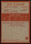 1965 Philadelphia #82  Jim Taylor   Back Thumbnail