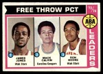 1974 Topps #210   -  James Jones / Mack Calvin / Ron Boone ABA Free Throw Leaders Front Thumbnail