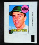 1969 Topps Decals  Rick Monday  Front Thumbnail
