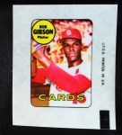 1969 Topps Decals  Bob Gibson  Front Thumbnail