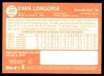 2013 Topps Heritage #439  Evan Longoria  Back Thumbnail