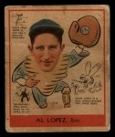 1938 Goudey Heads Up #281  Al Lopez  Front Thumbnail