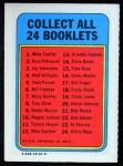 1970 Topps Booklets #18  Rusty Staub  Back Thumbnail