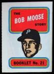 1970 Topps Booklets #21  Bob Moose  Front Thumbnail