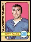 1972 Topps #117  Dave Balon  Front Thumbnail