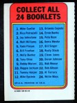 1970 Topps Booklets #17  Bill Singer      Back Thumbnail