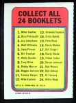 1970 Topps Booklets #14  Ernie Banks  Back Thumbnail