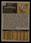 1971 Topps #70  Daryle Lamonica  Back Thumbnail