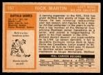 1972 O-Pee-Chee #157  Richard Martin  Back Thumbnail