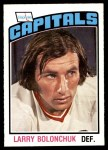 1976 O-Pee-Chee NHL #322  Larry Bolonchuk  Front Thumbnail