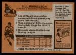 1975 Topps #207  Bill Mikkelson   Back Thumbnail