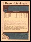 1977 O-Pee-Chee #380  Dave Hutchison  Back Thumbnail