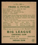 1938 Goudey Heads Up #245  Frank Pytlak  Back Thumbnail