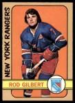 1972 O-Pee-Chee #153  Rod Gilbert  Front Thumbnail