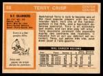 1972 O-Pee-Chee #88  Terry Crisp  Back Thumbnail