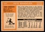 1972 O-Pee-Chee #124  Peter Mahovlich  Back Thumbnail