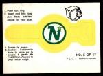 1973 O-Pee-Chee Rings #5   North Stars Front Thumbnail