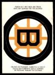 1973 O-Pee-Chee Team Logos #3   Bruins Logo Front Thumbnail