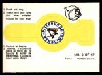 1973 O-Pee-Chee Rings #8   Penguins Front Thumbnail