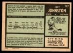 1971 O-Pee-Chee #182  Joey Johnston  Back Thumbnail
