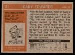 1972 Topps #151  Gary Edwards  Back Thumbnail
