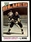 1976 O-Pee-Chee NHL #63  Chuck Lefley  Front Thumbnail