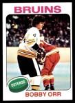 1975 Topps #100  Bobby Orr  Front Thumbnail