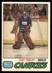 1977 O-Pee-Chee #395  Curt Ridley  Front Thumbnail