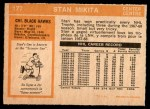 1972 O-Pee-Chee #177  Stan Mikita  Back Thumbnail