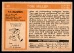 1972 O-Pee-Chee #32  Tom Miller  Back Thumbnail