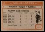 1972 Topps #125  Rod Gilbert  Back Thumbnail