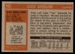 1972 Topps #153  Jude Drouin  Back Thumbnail