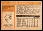 1972 O-Pee-Chee #141  Orland Kurtenbach  Back Thumbnail