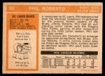 1972 O-Pee-Chee #82  Phil Roberto  Back Thumbnail