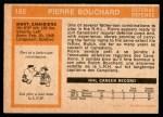 1972 O-Pee-Chee #165  Pierre Bouchard  Back Thumbnail