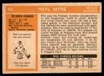 1972 O-Pee-Chee #43  Phil Myre  Back Thumbnail