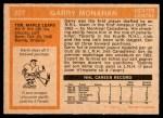 1972 O-Pee-Chee #207  Garry Monahan  Back Thumbnail