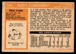 1972 O-Pee-Chee #166  Ross Lonsberry  Back Thumbnail