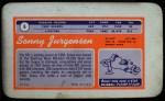 1970 Topps Super #6  Sonny Jurgensen  Back Thumbnail