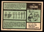 1971 O-Pee-Chee #139  Bill Collins  Back Thumbnail