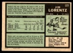 1971 O-Pee-Chee #227  Jim Lorentz  Back Thumbnail