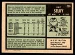 1971 O-Pee-Chee #226  Brit Selby  Back Thumbnail