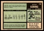 1971 O-Pee-Chee #152  Butch Goring  Back Thumbnail