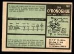 1971 O-Pee-Chee #180  Don O'Donoghue  Back Thumbnail