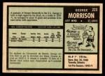 1971 O-Pee-Chee #223  George Morrison  Back Thumbnail