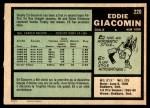 1971 O-Pee-Chee #220  Ed Giacomin  Back Thumbnail