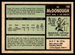 1971 O-Pee-Chee #150  Al McDonough  Back Thumbnail
