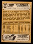 1968 Topps #97  Tom Phoebus  Back Thumbnail
